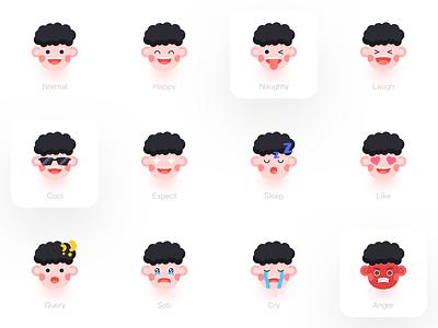 Peter Emoji emoji kid icon vector branding design