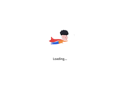 IP-loading kids illustration loading motion kid branding illustration