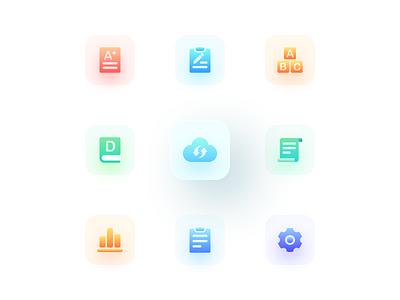 Gradual icon 3 2x education icons vector icon design