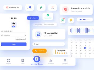 Educational product components components education app education app icon ui design