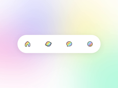Rainbow tabbar icons motion rainbow tabbar tab icon