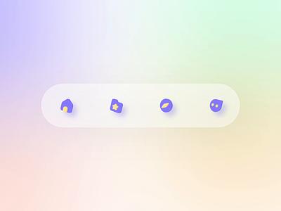 3D Tabbar motion design tabbarmotion motion tabbar icon