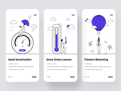 Startup page-plant growth app ui illustration design