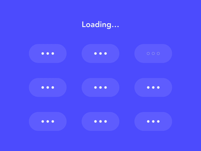 loading motion icon ui design