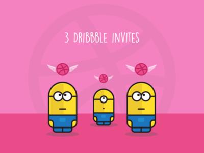 3× Dribbble invites