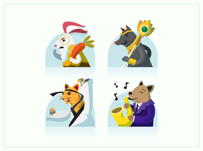 Choose your Animal Fighter Avatars