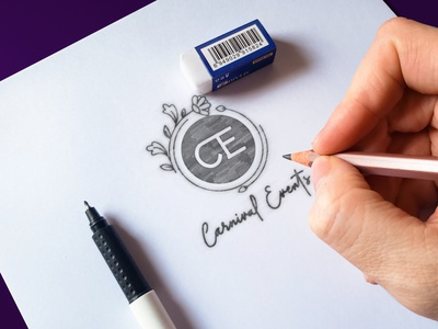 Carnival Events Logo (3) | Minimal CE logo sketchbook sketching sketch mockup violet company brand logo logo design logodesign company logo logo company branding company photoshop minimalism branding adobe illustrator minimalist minimal design