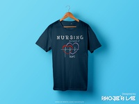 Nursing is a work of Heart | T-Shirt Design