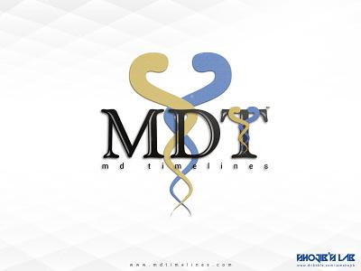 MDT Logo | MDTimelines Logo analysis data doctor chronology logo mdt