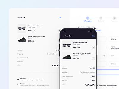 Xela UI Kit - Responsive Templates for Ecommerce ecommerce website ecommerce app shopping cart ecommerce template templates ui kit figma prototyping design system