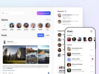 Xela Design System - Templates for Social Apps app android ios jetpack compose swiftui template templates ui kit prototyping figma design system