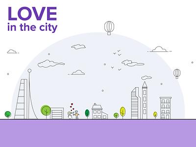 City city love adobe illustration design