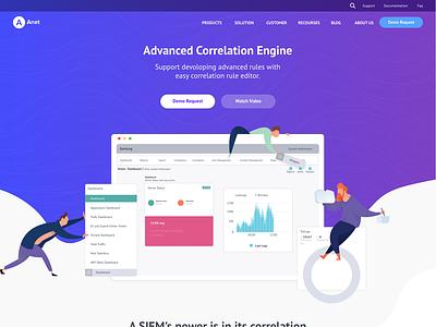 Anet New Version website concept ux ui illustration adobe website design website