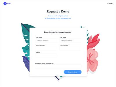 Request Demo illustration ui design adobe webdesign requests demo