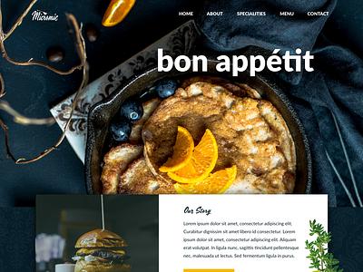 Micromic - Restaurant food restaurant single page landingpage website design adobe