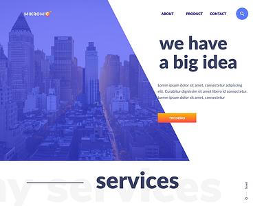 Mikromic - Company template company single page web design design