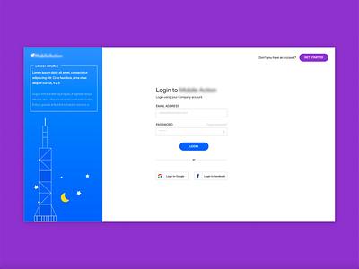 Login design webdesign signup login
