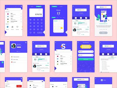 Ivr - All Screen search company profile password animation enjoying app design adobe illustration design