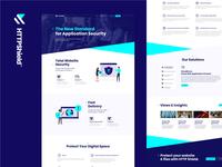 HTTP Shield - Website Design xd freelance graphic color colour brand ux ui illustration safe shield protect design website