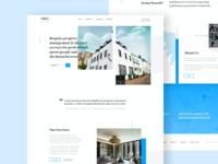 Arena Search - Homepage Design development property sports uk font serif bold creative imagery colour brand web website design