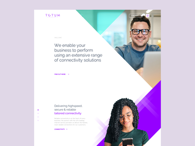 Totum - Homepage Designs logo brand type color human imagery 2020 startup tech online connect creative uiux ui website design