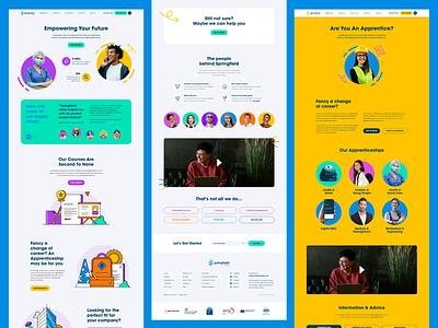 Training & eLearning - Website Design digital branding colour color illustration creative ux ui website graphic design
