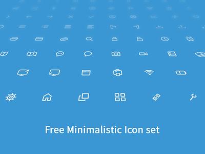 Free Minimalistic Icon Set icon brand branding free freebie design illustrate web website download