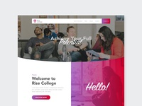 College - Homepage Design