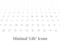 Minimal 'Life' Icons