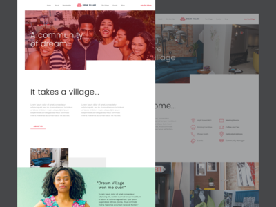 Dream Village - Homepage Design