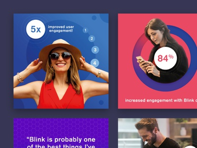 Blink - ads - series 1 creative ux ui app statistic type digital graphic design advert colour brand blink