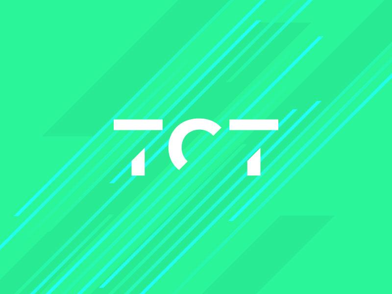 TCT Logo Concept 1 custom type identity graphic creative colour brand design logo