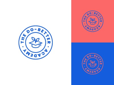 Do Better Academy - Logo illustrator stamp seal style 2019 modern colour color graphic creative ux ui web design identity brand logo