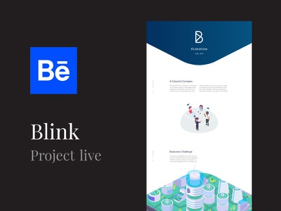 Blink - Behance Case Study app blink isometric art inspiration graphic ux ui creative illustration brand design behance