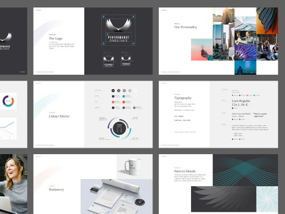 Performance Consultants - Brand Guide image typography font icon graphics graphic design pattern ux ui identity collateral stationary colour logo branding brand brand guide