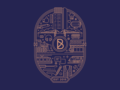 Blink - Emblem - 2019 line adobe vector illustration ux creative icon ui branding web colour brand design
