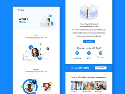 Blink - e shot creative app blink marketing sales ux ui illustration brand graphic create creative design email