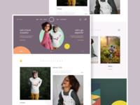 Lily Dennison - Homepage concept color brand web design website creative design ux ui web