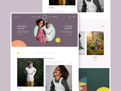 Lily Dennison - Homepage concept color brand web design website creative design ux ui web