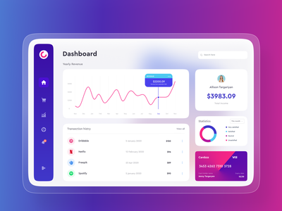 Dashboard UI Exploration uxdesign wallet personal expense dashboard design website design ui design typography crypto exchange capital investment crypto wallet balance transfer cryptocurrency financial website finance