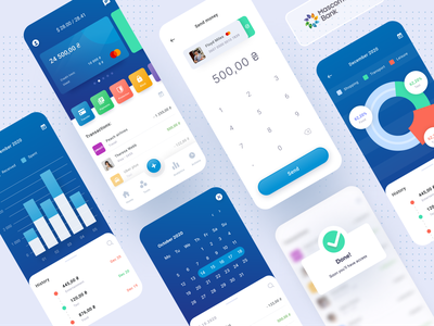 Banking application 💰 flat design ux design interface figma mobile ui new popular statistics business pay finance application app bank
