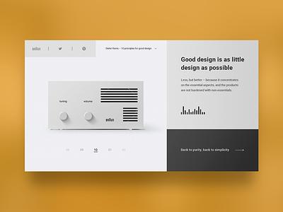 Dieter indahouse website identity minimal type design flat web branding ux ui illustration