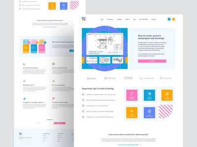 Landing page for the service site ✍ animation flat design art app icon logo drawing top new free interface minimal illustration figma website flat design web ux ui