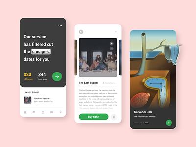 Museum ticket search service 🖼️ dali museum pictures app design application app illustration figma design ux ui art