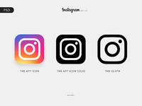 instagram logo free psd by reza ghenaat dribbble dribbble. Black Bedroom Furniture Sets. Home Design Ideas