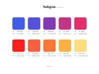 Instagram color palette
