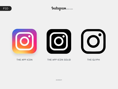 Instagram Logo - Free PSD palette colors logo instagram