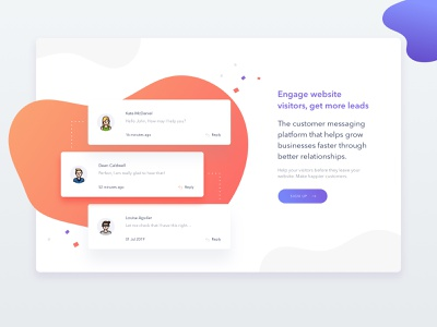 Customer Service for website WIP modal bubble modern clean minimal reply cusomer live chat