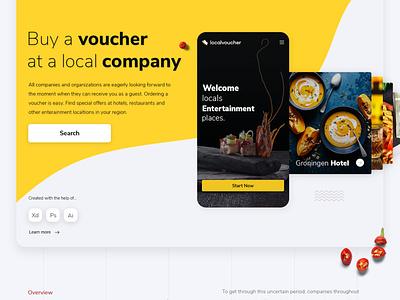 Localvoucher.nl webdesign website voucher corona covid19 covid platform
