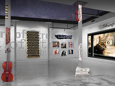 Art of Stream ux ui web 3d website stream art
